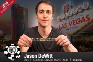 DeWitt Wins, Teacher Makes WSOP Dream Come True in the Millionare Maker