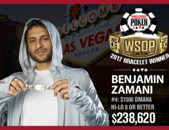 Ben Zamani Wins 2017 World Series of Poker $1,500 Omaha Eight-Or-Better Event