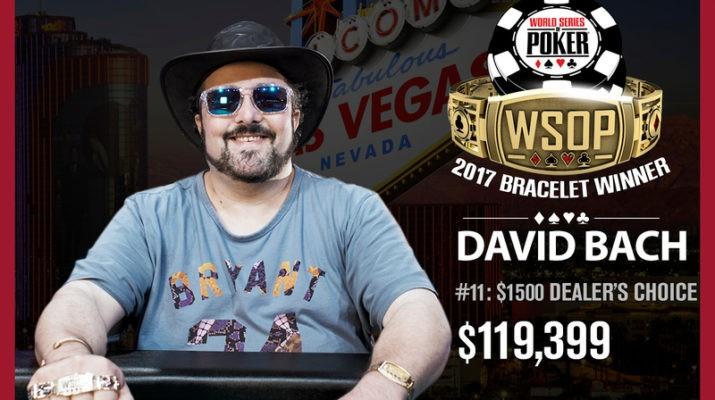 David Bach Wins 2017 World Series of Poker $1,500 Dealer's Choice Event