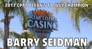 Barry Seidman Wins 2017 Card Player Poker Tour Ocean's 11 San Diego Classic