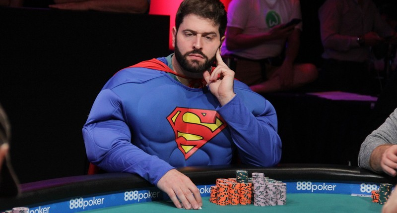 Dressed As Superman, Jonathan Dwek Tries To Have Fun Deep In World Series Of Poker Main Event