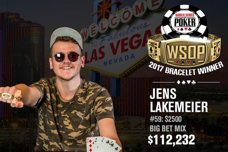 Jens Lakemeier Wins 2017 World Series of Poker $2,500 Mixed Big Bet