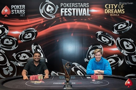 PokerStars Festival Manila: Three more fall, heads up set to start