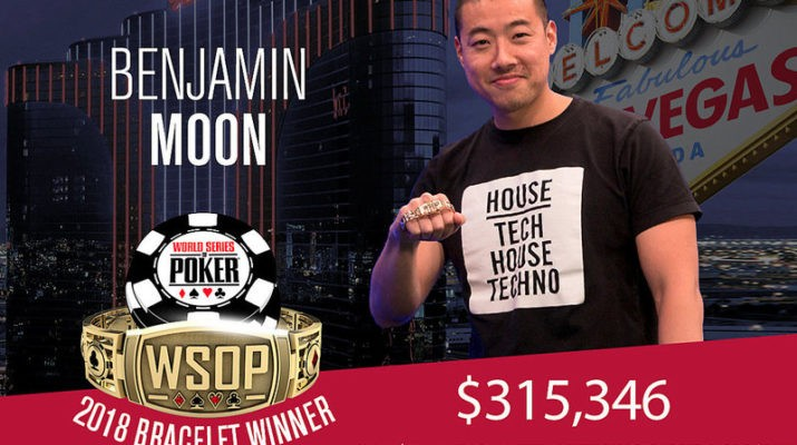 Benjamin Moon Wins 2018 WSOP $1,500 No-Limit Hold'em Big Blind Ante Event