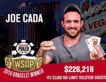Joe Cada Wins 2018 World Series of Poker $3,000 No-Limit Hold'em Shootout